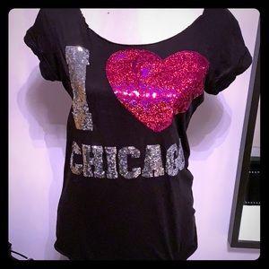 I love Chicago Victoria's Secret pink tee